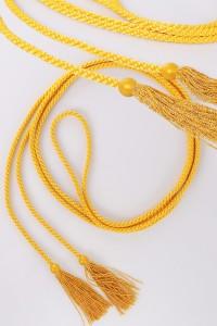 Cordon à franges jaunes