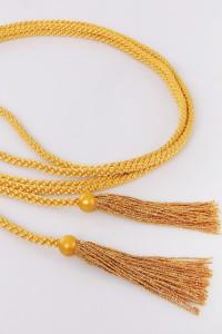 Cordon à franges dorées
