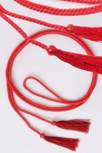 Cordon à franges rouges