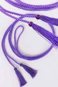 Cordon à franges violet