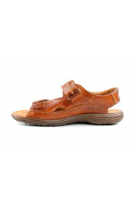 Sandales velcro marron...