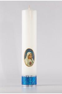 Cierge d'autel marial [O-14]