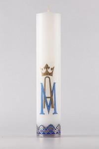 Cierge d'autel marial [O-17]
