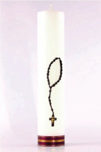 Cierge d'autel marial [O-18]