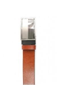 Bracelet en cuir brun-rouge...