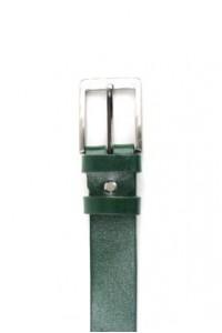 Bracelet en cuir vert avec...