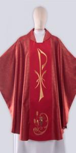 Les chasubles rouges avec broderie - Les chasubles - vetementsliturgiques.fr