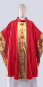 Les chasubles rouges avec ornement - Les chasubles - vetementsliturgiques.fr