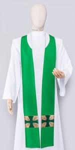 Les étoles vertes - Les étoles - vetementsliturgiques.fr