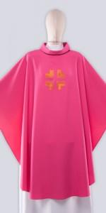 Les chasubles roses avec broderie - Les chasubles - vetementsliturgiques.fr