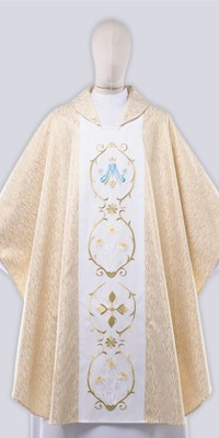 Les chasubles mariales avec broderie
